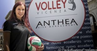 La 24enne Elena D'Ambros, libero dell'Anthea Volley Vicenza per la stagione 2017/2018