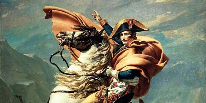Napoleone attraversa le Alpi - Dipinto di Jacques-Louis David