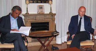 A destra, il presidente della Fondazione Roi, Ilvo Diamanti, con il suo vice Andrea Valmarana