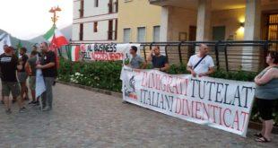 Manifestazione anti profughi a Lugo di Vicenza