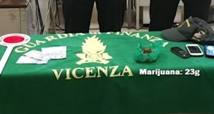 Il materiale sequestrato dalla Guardia di Finanza di Vicenza