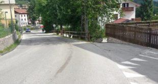 La zona dell'incidente, avvenuto questa mattina, verso le 9.30