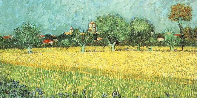 """Van Gogh, """"Veduta di Arles con iris"""" (dettaglio) - Van Gogh Museum, Amsterdam"""