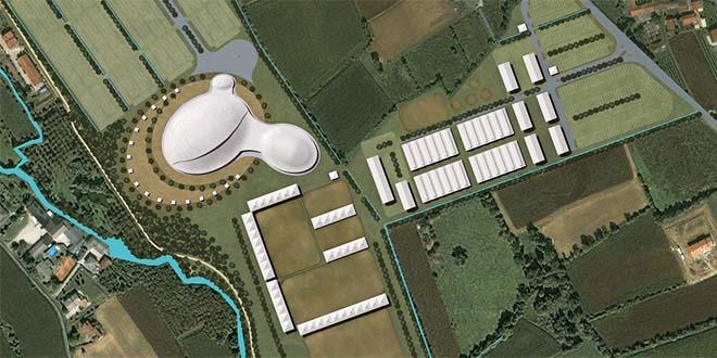Un rendering del progetto del Centro equestre di Caldogno