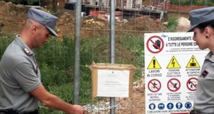 L'intervento di sequestro dei carabinieri forestali