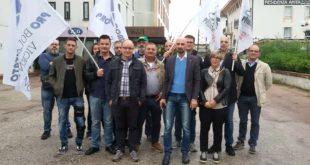 I rappresentanti della rete vicentina anti profughi