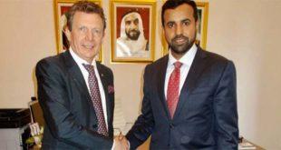 Il vicepresidente di Confindustria Vicenza, Remo Pedon, e il console generale degli Emirati Arabi Uniti Abdalla Hassan Obaid Hassan Alshamsi