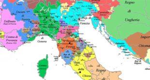 Una mappa dell'Italia rinascimentale...