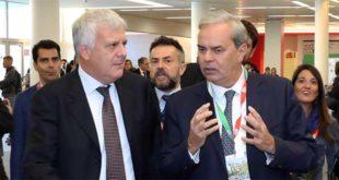 Il ministro dell'Ambiente e del territorio, Galletti, con il sindaco Variati