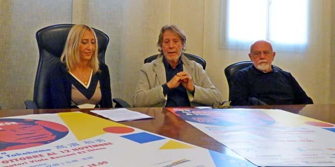 Da sinistra: Strinati, assessore alla cultura del Comune di Thiene, Zancanaro e Poli
