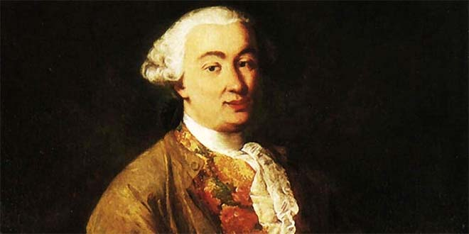 Carlo Goldoni ritratto da Alessandro Longhi (1750 circa)