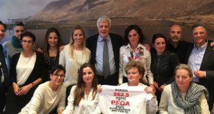 Le Mamme No Pfas assieme al ministro dell'Ambiente Gian Luca Galletti