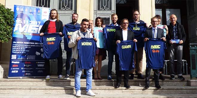 Assessori e organizzatori della Mezza maratona dei sei Comuni