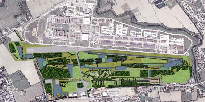 Il progetto del Parco della Pace, nell'area ex Dal Molin