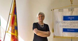 La presidente dell'Ordine dei commercialisti ed esperti contabili di Vicenza,Margherita Monti