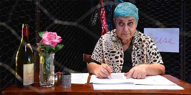 "Serra Yilmaz in ""Grisélidis: memorie di una prostituta"""" (Foto di Pino Le Pera)"