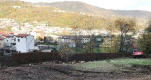 Ultimato il vallo paramassi a protezione dell'abitato di località Tomasoni, a Valdagno