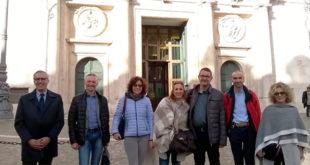 La delegazione sindacale vicentina che ha partecipato all'incontro al Mise, a Roma
