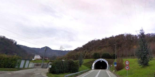 L'ingresso del tunnel che collega Schio e Valdagno