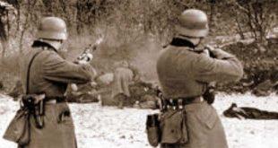 Una fucilazione nazifascista...
