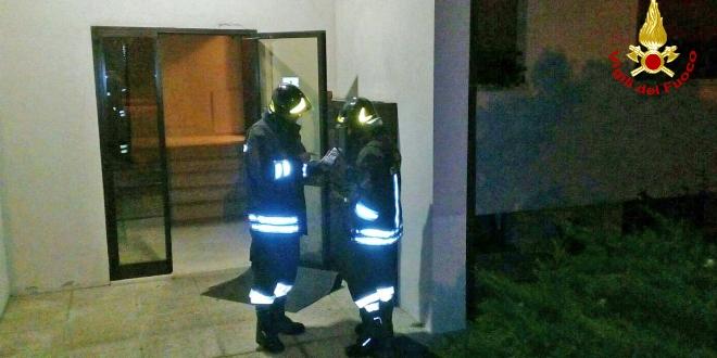 Vigili del fuoco al lavoro a Chiampo