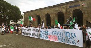 Una manifestazione di Forza Nuova, a Vicenza, nel 2016