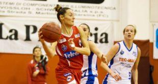 10 punti per Valentina Stoppa, guardia della VelcoFin Vicenza, nella trasferta a Crema