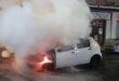 Thiene, auto distrutta dal fuoco nella notte