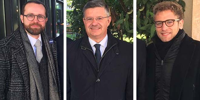 Da sinistra: Jacopo Bulgarini d'Elci, Otello Dalla Rosa e Giacomo Possamai