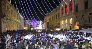 Lo scorso Capodanno a Vicenza, in Piazza dei Signori