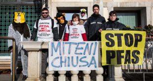 L'azione di oggi a Venezia (Foto tratta dal sito web di Greenpeace Italia)