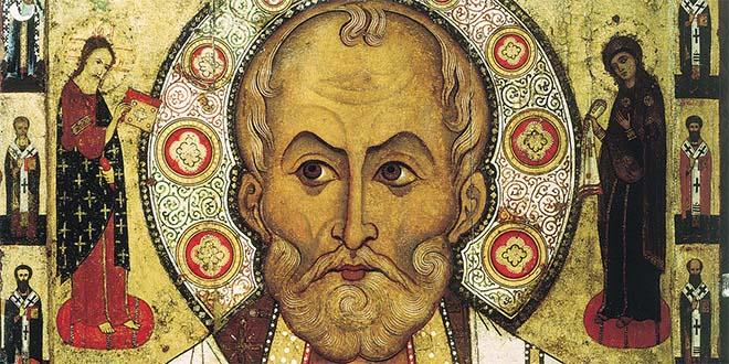 San Nicola di Myra (icona russa) noto anche come San Nicola di Bari - Vescovo di Myra