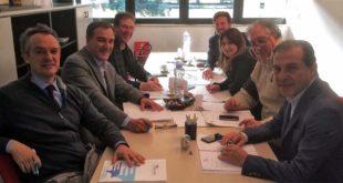Il coordinamento dei segretari provinciali di Usarci Veneto. Franco Roccon è il secondo da sinistra