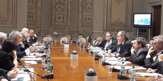 Una riunione, a Roma, nei mesi scorsi, del tavolo sull'autonomia del Veneto