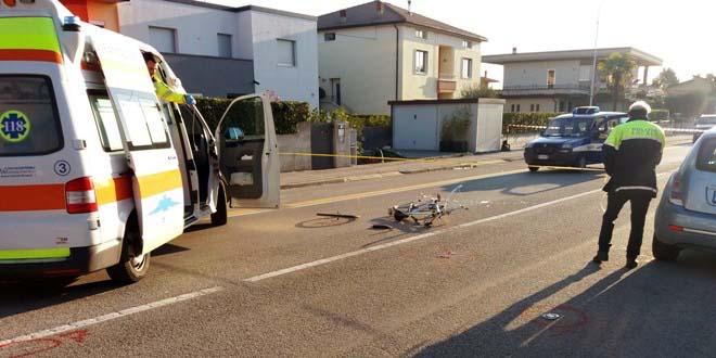 Zanè, scontro auto-bici. Muore ciclista di 81 anni
