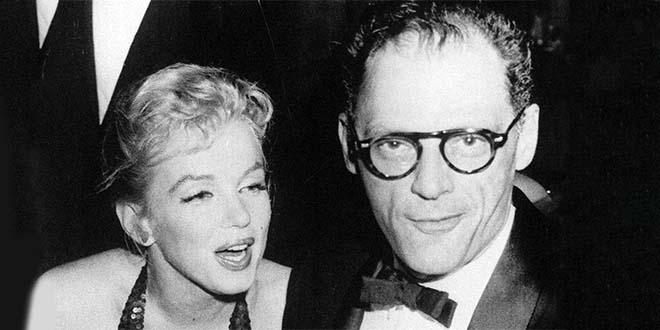 Arthur Miller con Marilyn Monroe nel 1957