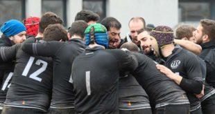 """Il Rugby Bassano, nell'occasione in versione """"All Blacks"""" (Foto di Stefano Sartore)"""