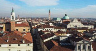 Il centro storico di Vicenza visto dal Torrione di Piazza Castello