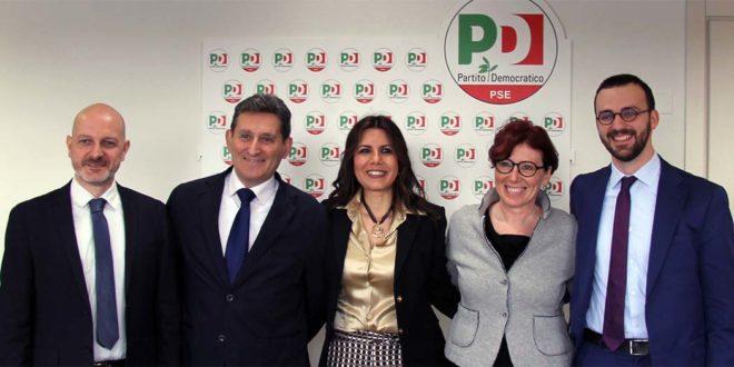 Da sinistra: Simone Cecchetto, Diego Marchioro, Daniela Sbrollini, Alessandra Marobin e Filippo Crimì