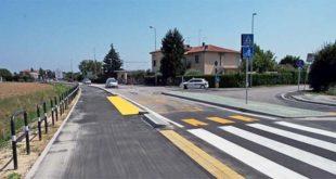 Il tratto di pista ciclabile di strada Bertesina inaugurato lo scorso luglio