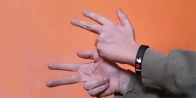"""Il segno per """"segnare"""" nella Lingua dei Segni Italiana - Foto Di EliasaileLIS (CC BY-SA 4.0)"""