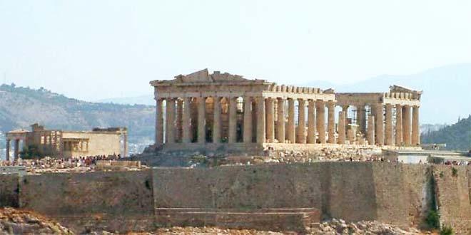 Il Partenone, simbolo dell'antica Grecia e della democrazia ateniese