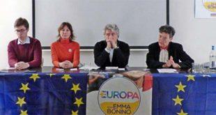 I candidati vicentini della lista +Europa, da sinistra: Bidoia, Piovan, De Andreis e Thiene