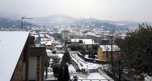 Neve sui tetti di Arzignano