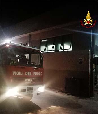 Incendio in azienda a Noventa Vicentina