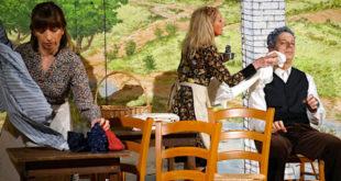 """Una scena tratta da """"Amore, polenta e bacalà"""", la nuova commedia della compagnia Astichello"""