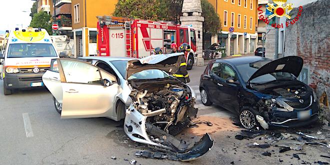 Due feriti nell'incidente di questa mattina a Bassano