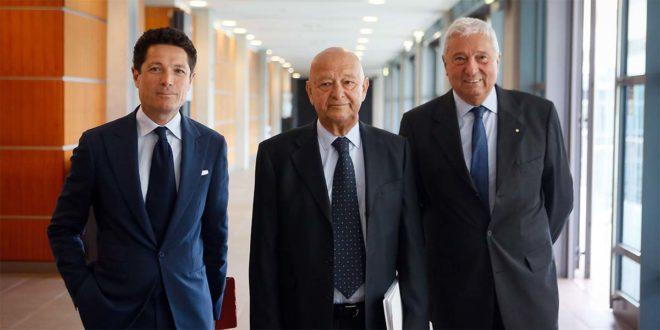 Da sinistra: Matteo Marzotto, Lorenzo Cagnoni e Ugo Ravanelli