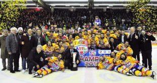 La Migross Asiago ha vinto la Alps Hockey League (Foto di Paolo Basso)