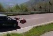 Moto contro auto sul Costo. Centauro miracolato